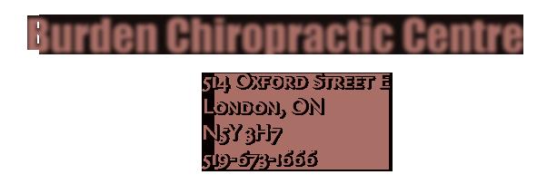 Dr. Neil Burden. London Ontario Chiropractor Chiropractic. Logo